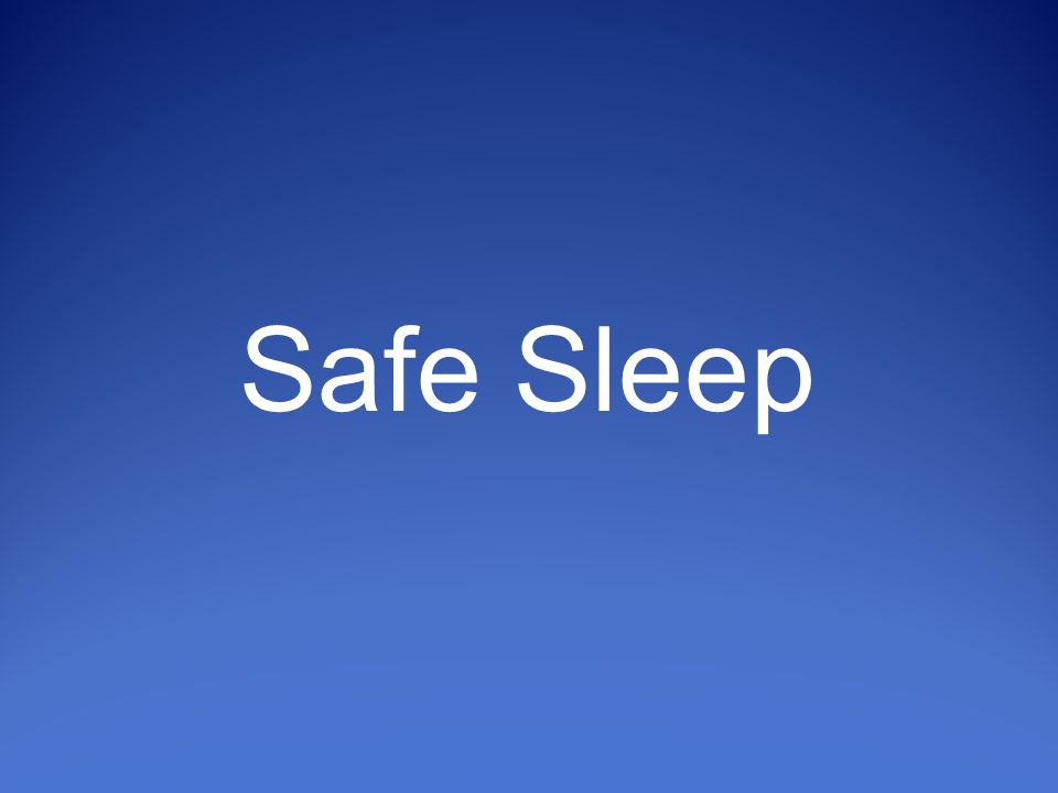 Objectives Increase understanding of sleep-related deaths Describe the Triple Risk Model Identify modifiable/non-modifiable risks Understand meaning of Alone, Back, Crib Motivate integration of Safe Sleep into nursing practice