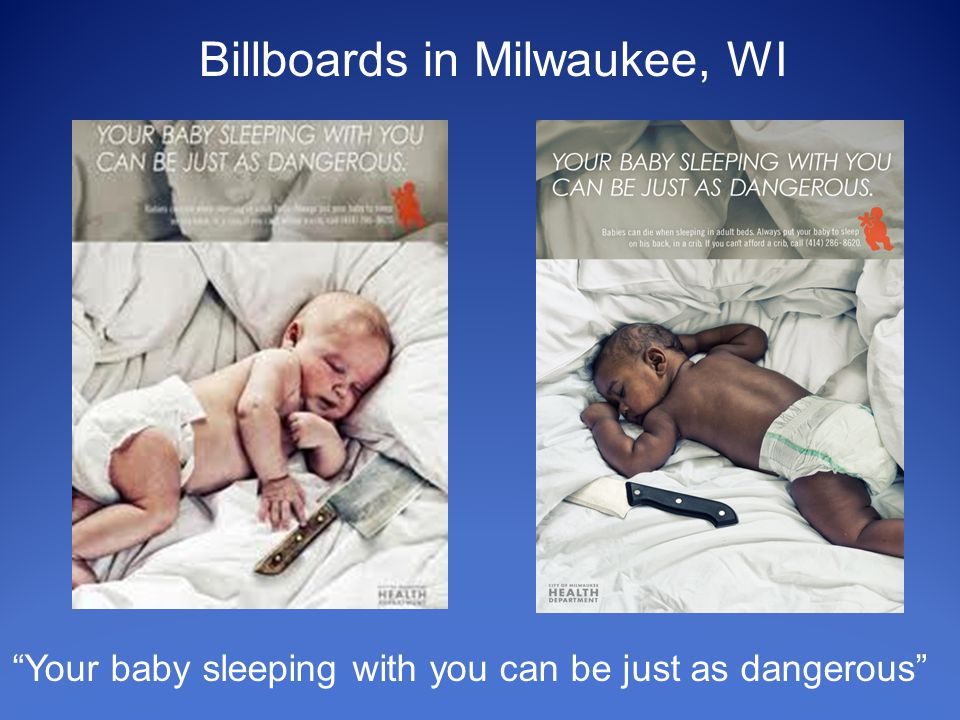 Billboards in Milwaukee, WI Your baby sleeping with you can be just as dangerous
