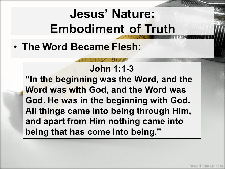 Jesus' Mission: To Testify to the Truth Jesus believed in discernable truth John 3:31-33 He who comes from above is above all, he who is of the earth is from the earth and speaks of the earth.
