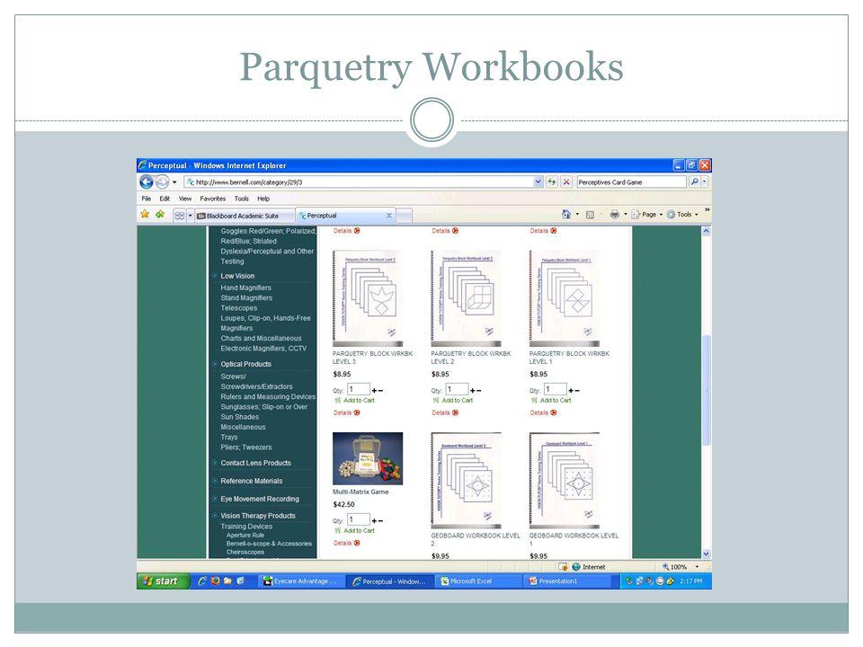Parquetry Workbooks