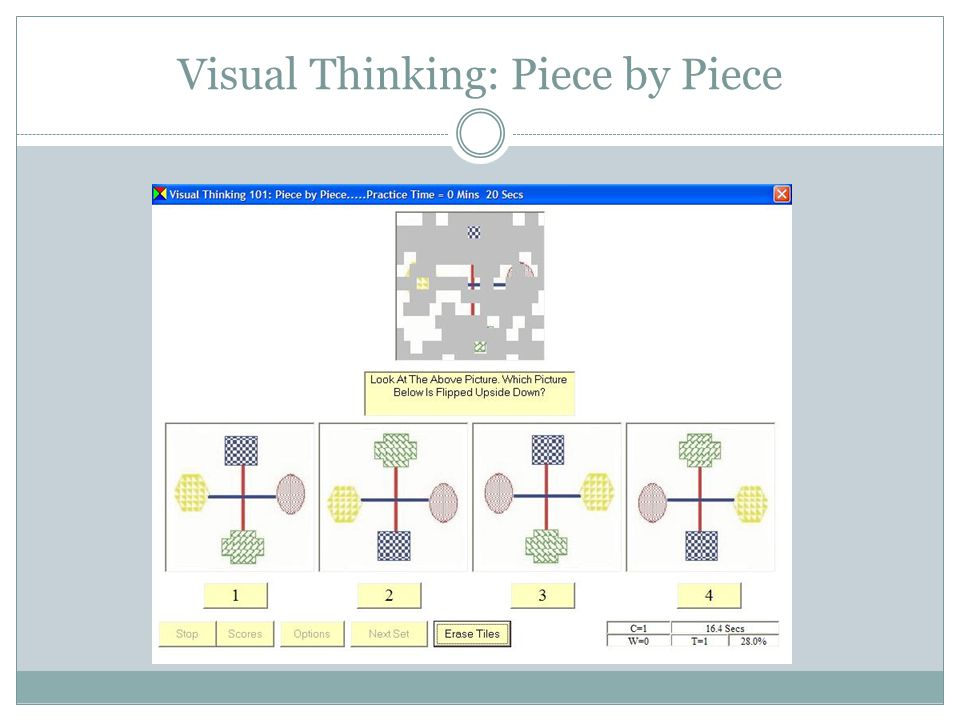Visual Thinking: Piece by Piece