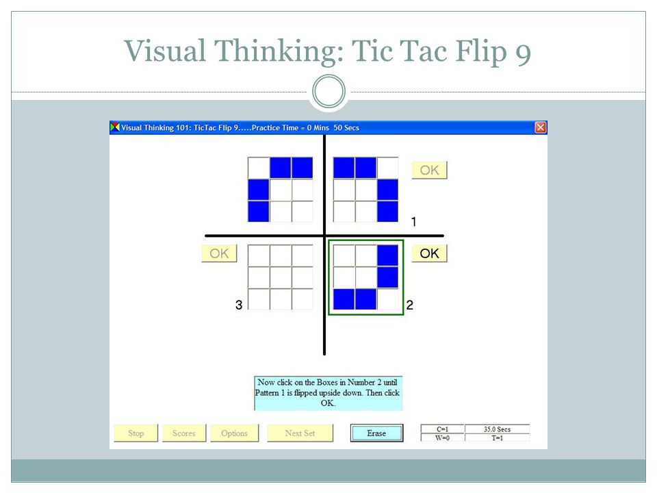 Visual Thinking: Tic Tac Flip 9
