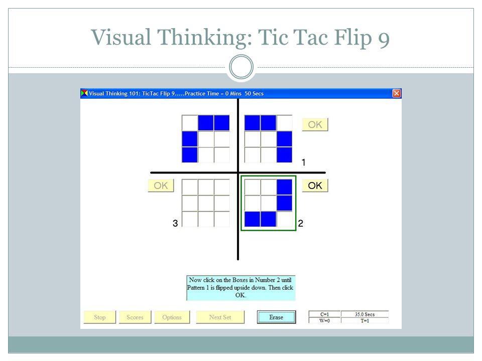 Visual Thinking: Tic Tac Flip 25