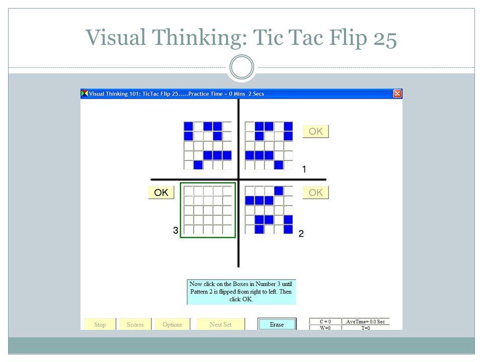 Visual Information Processing Skills Menu