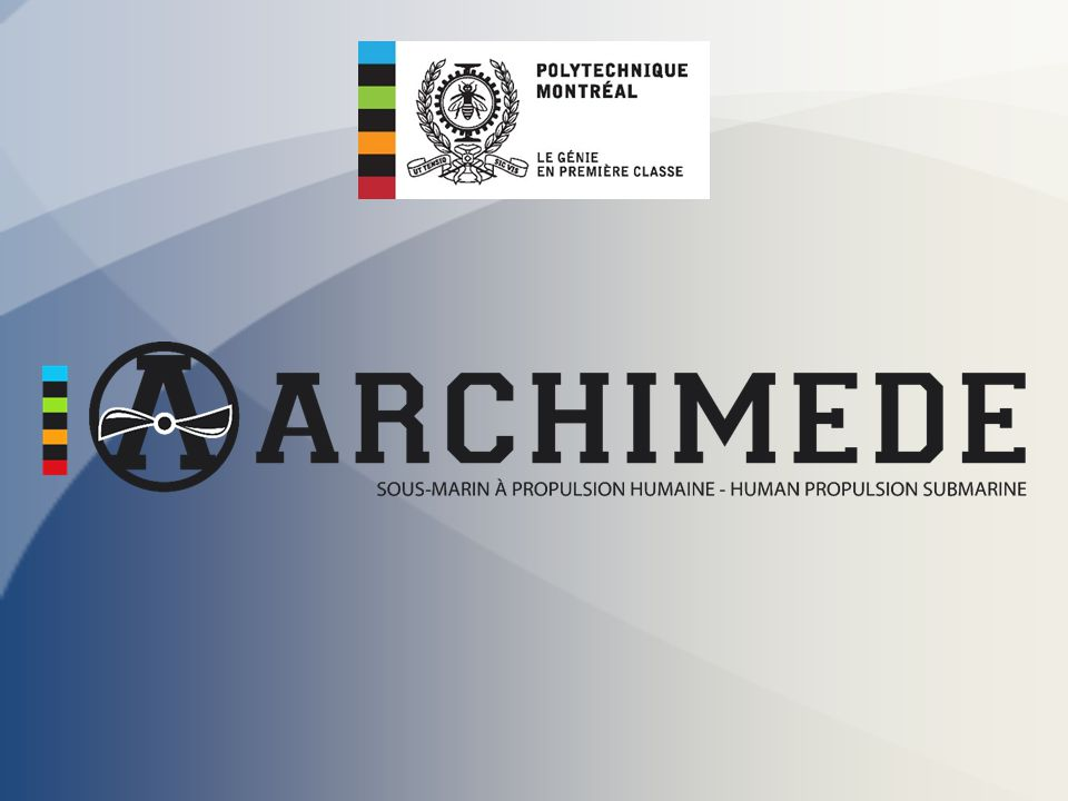 Brief history Archimede VI Past events Budget 2012 - 2013 Team members & competition crews Design Hydrodynamic Fins Mechanical Conclusion & Questions International Submarine Races # 12 – Team Archimede 2/20 Presentation overview