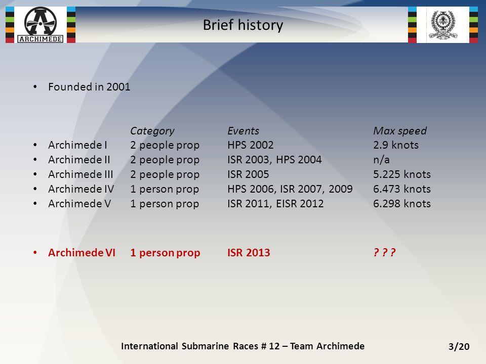 International Submarine Races # 12 – Team Archimede 4/20 Archimede VI (1/3)