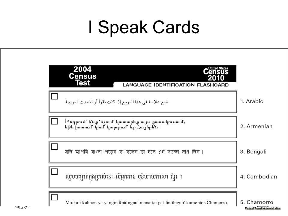 I Speak Cards