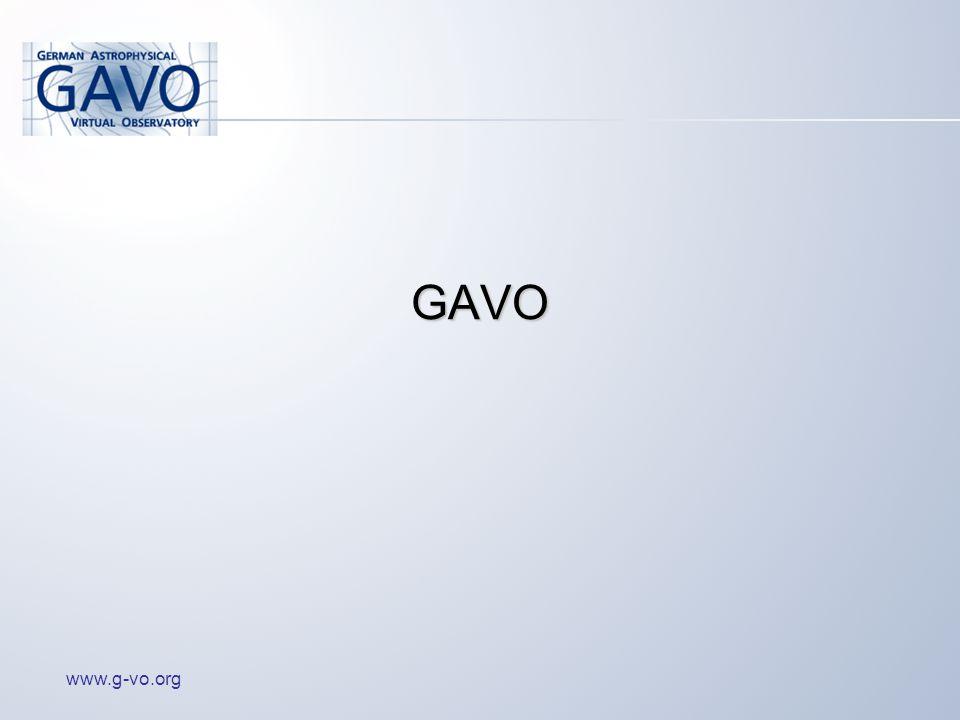 www.g-vo.org GAVO