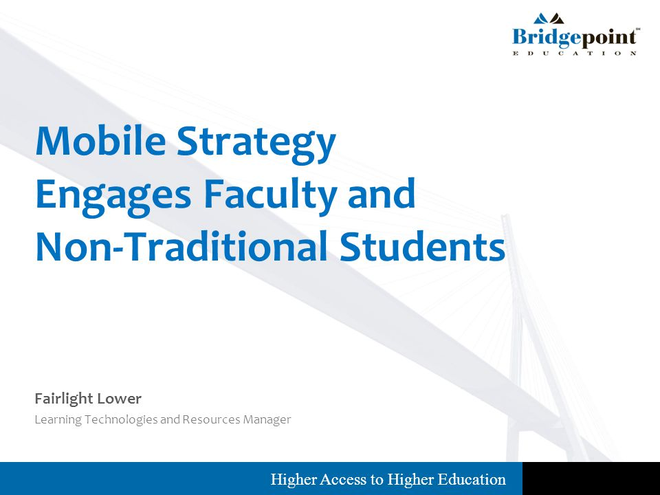 Higher Access to Higher Education Project Results: Feedback Surveys Focus Groups Social Media