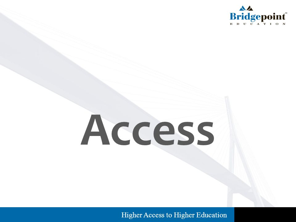 Higher Access to Higher Education Access