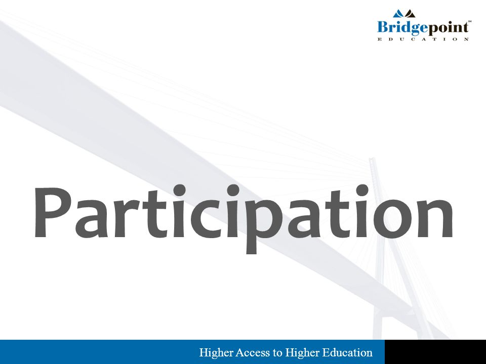 Higher Access to Higher Education Participation