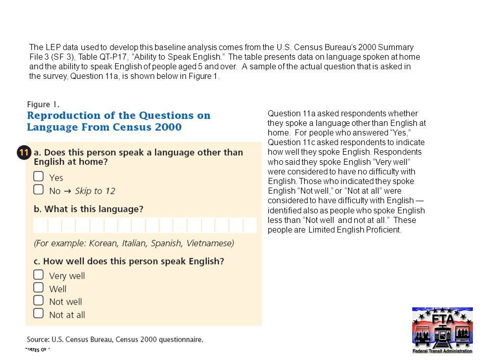 Question 11a asked respondents whether they spoke a language other than English at home.
