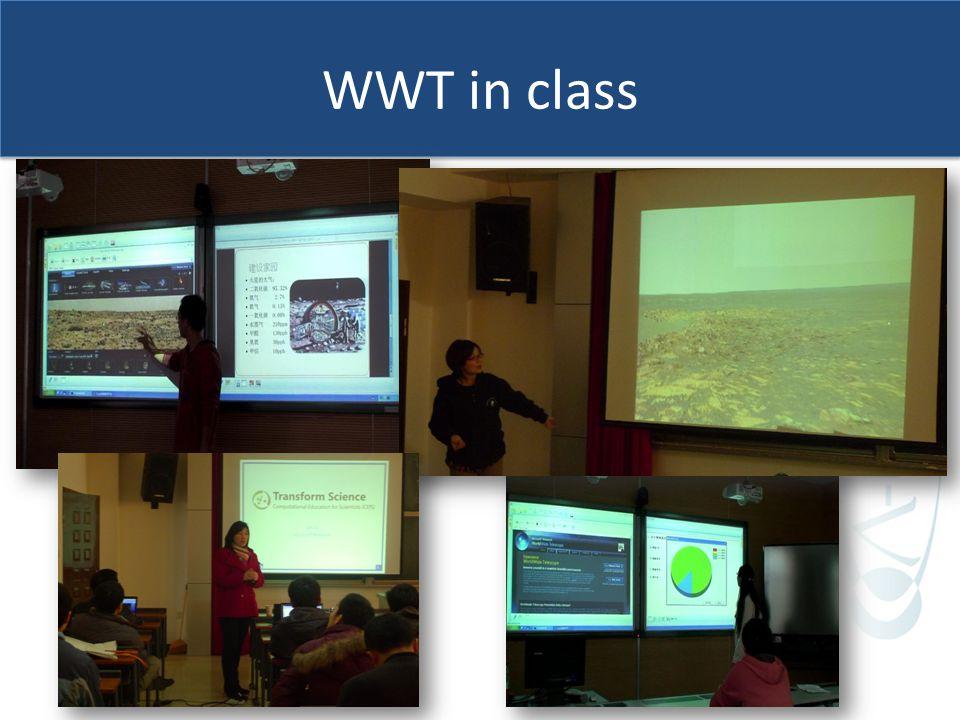 WWT in class