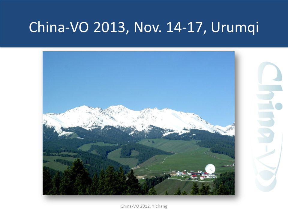 China-VO 2013, Nov. 14-17, Urumqi China-VO 2012, Yichang