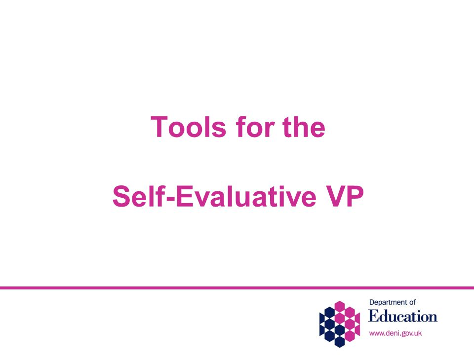Tools for the Self-Evaluative VP