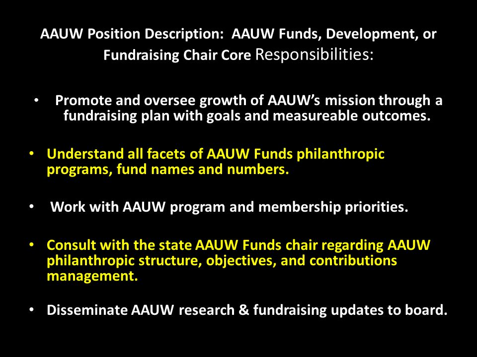 Support your favorite AAUW programs with tax- deductible gifts to AAUW Funds.