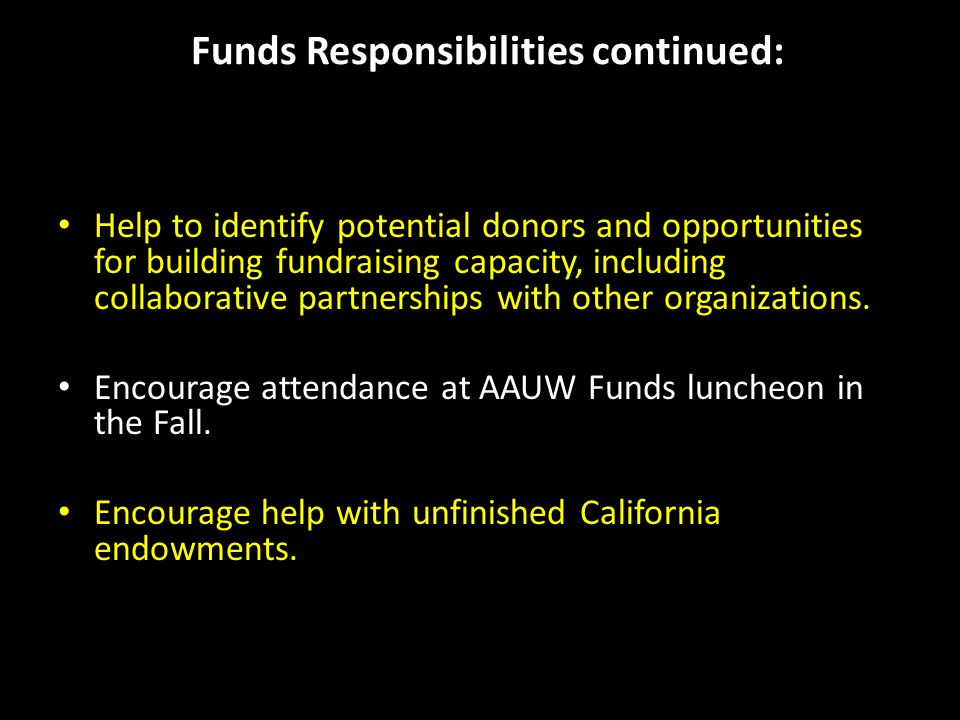 How to Make a Donation Please make all checks payable to AAUW Funds.