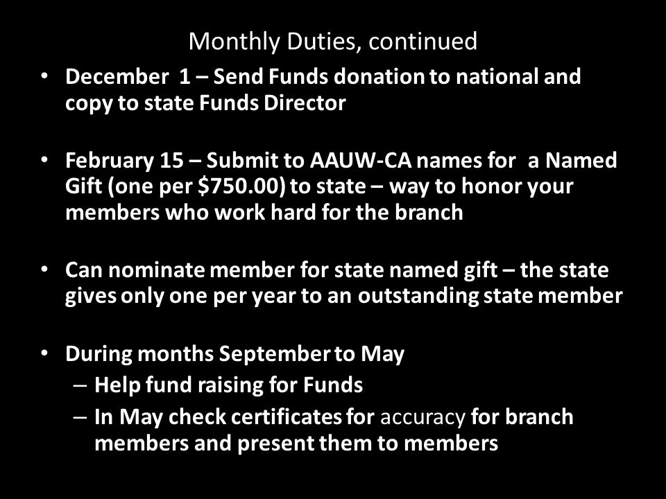 AAUW Funds Major Donors Designations Platinum Circle ($50,000-$100,000) President's Circle ($10,000-$25,000) Director's Circle ($5,000-$9,999) Leader's Circle ($2,500-$4,999) Friends of AAUW ($1000-$2,499) Equity Circle ($500-$999) Chocolate Club ($300-$499) Second Century Club ($200-$299) Century Club ($100-$199)