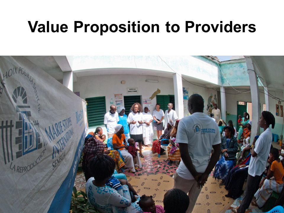 Value Proposition to Providers