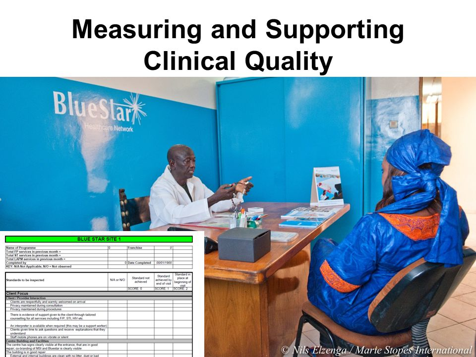 Measuring and Supporting Clinical Quality