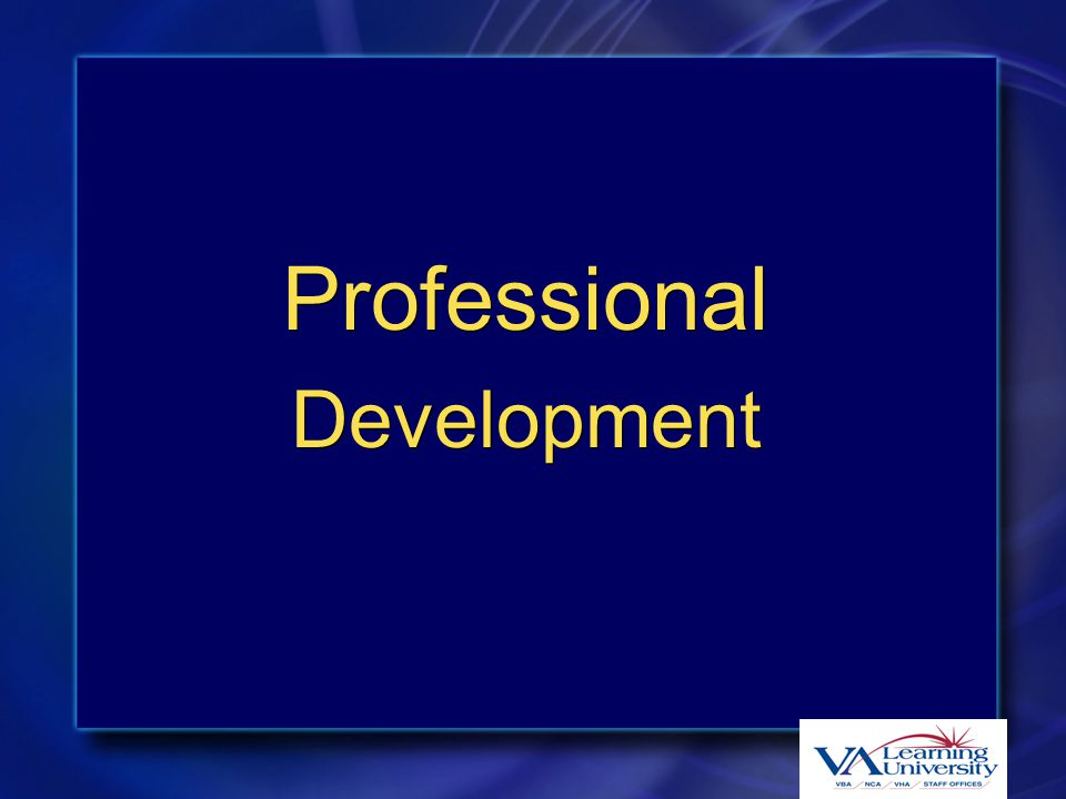 Professional Development Professional Development
