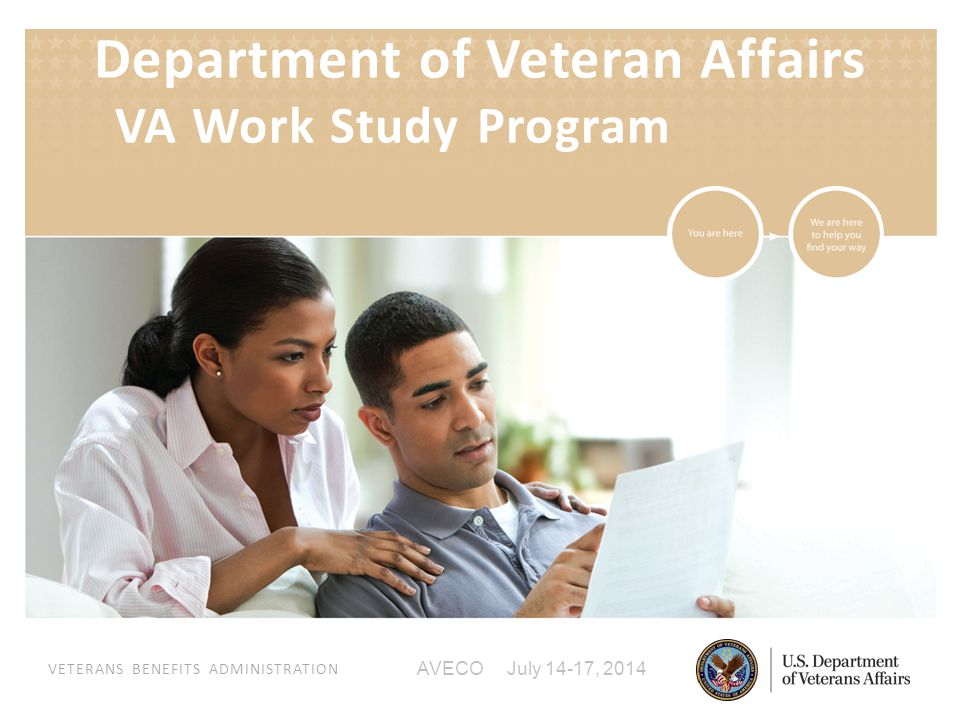 VETERANS BENEFITS ADMINISTRATION AVECO July 14-17, 2014 Department of Veteran Affairs VA Work Study Program