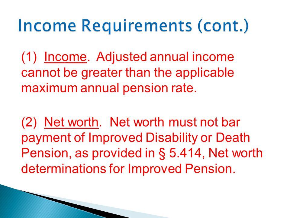 (1) Income.