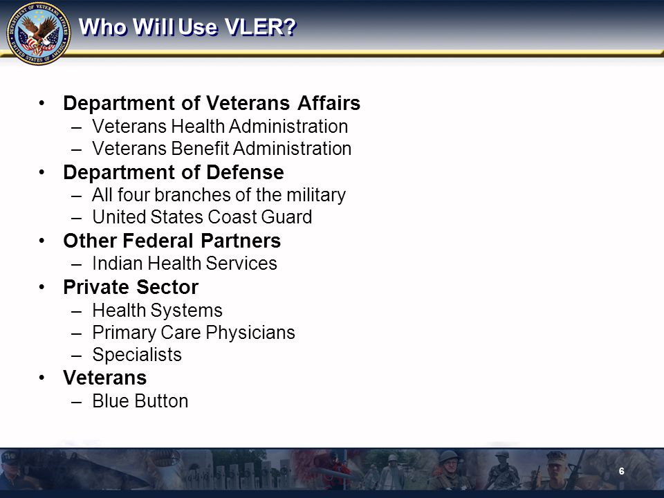 The VLER Initiative Structure Executive Product Management Office (EPMO) Governance & Executive Level Reporting Strategic Direction Requirements Management/Brokerage Desk Kicking 7 Information Technology Program Management Office (IT PMO) Program/Project Managers Developers Office of Acquisition Operations Technology Acquisition Center Program Advisory Office Advise and Assist the Major Initiative Team on Acquisition Provide insight to Senior Acquisition Personnel