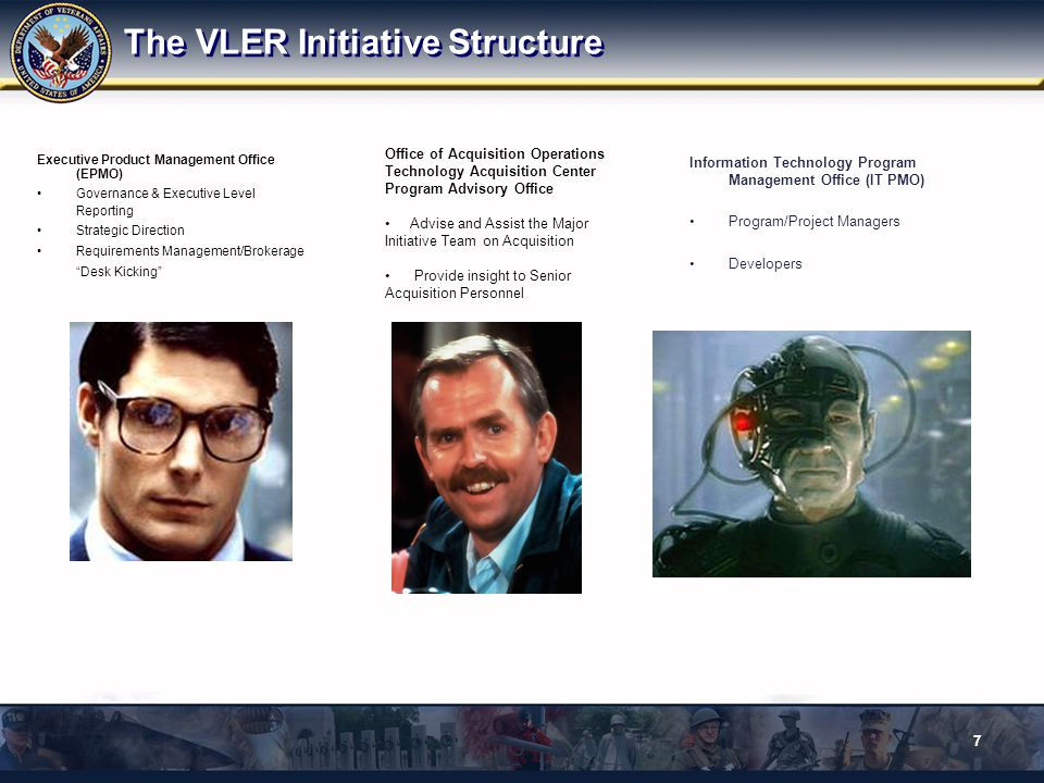 End State Out of VRM Scope Interagency Collaboration Program Executive Office Enabling Seamless Access across the Federal Enterprise 20091124 38 Internal Unified Desktop Knowledge Mgt ** IAM VIERS VADIR VADIR ** Member Services Data Access Services Data Svcs Data Svcs Data Svcs Enabling Services IAM Services Other Enabling Services Knowledge Mgt Self-service Eligibility Registration One VA Portal Framework ** VIP VONAPP CHAMPVA VTA MyHealtheVet Veterans & Beneficiaries Employees & Contractors Clinical Users Volunteers, VSOs DoD, Other Agencies Private Sector VBMS HealtheVet Contact Center Web Email Mail Facilities Contact Center Self Service (Web) Email Mail Facilities Phone/IV R NOA eBenefits Single sign-on Authentication Identity Mgt Identity Correlation Provisioning Access Mgt Proofing VIC PKI Enabling Audit & Compliance Credentialing Electronic signature PIV Common Security Framework Telephony CTI/IVR Call forwarding Call recording Intelligent call routing Call traffic reports Call back option Natural language recognition ESB Other agencies (VBA, NCA, VHA) External VLER Other Fed Agencies DoD Health DoD Admin Other State Agencies Private Health Reporting & Analysis Auto-enrollment Military history service Customer Relationship Management