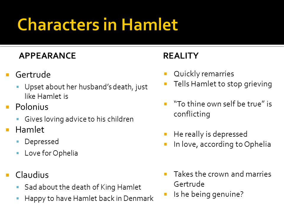  Use of puns  A little more than kin and less than kind (1.2.67) ▪ Hamlet's first line of the play  I am too much in the sun (1.2.69)  Hamlet's first soliloquy (1.2.133)  What lines discuss suicide.