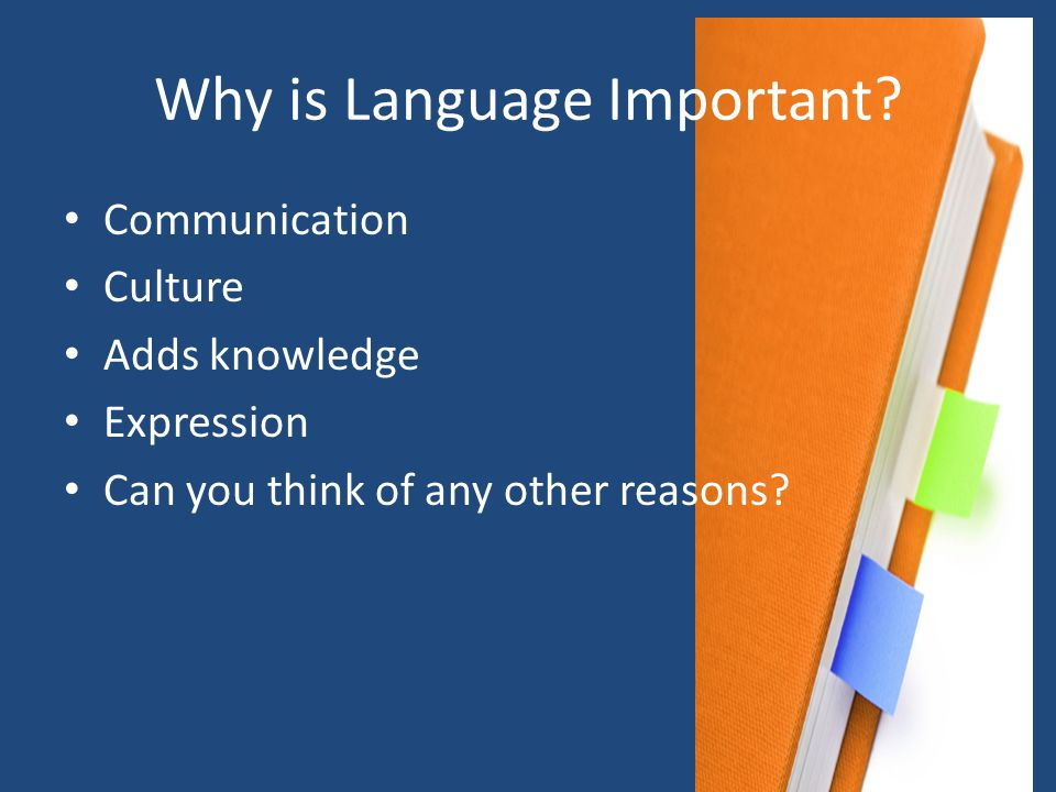 Why is Language Important.