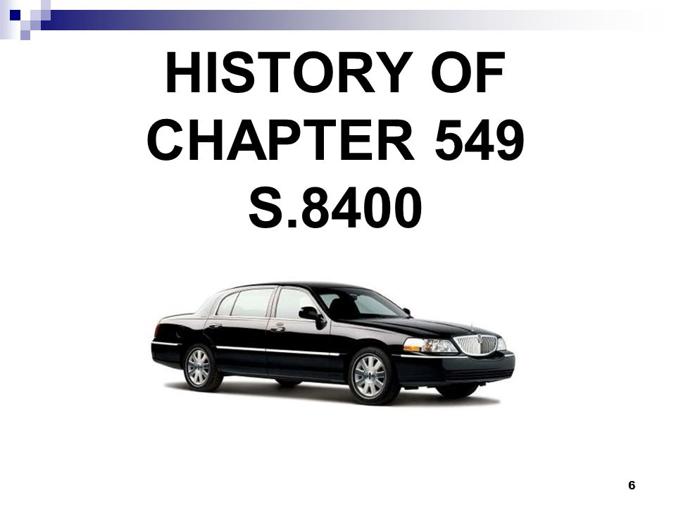 6 HISTORY OF CHAPTER 549 S.8400
