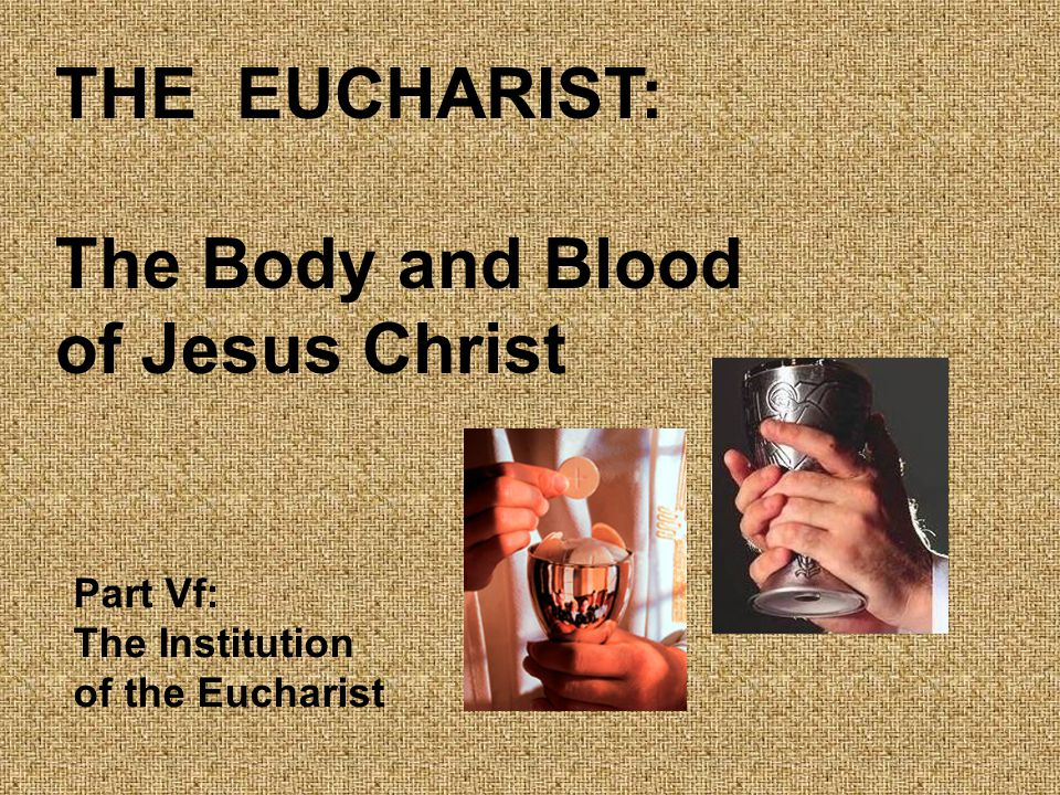 The Eucharist: The Lord s Supper Catholic Christians share with most Christians the faith that Jesus Christ, on the night he was betrayed, ate a final or last supper with his Apostles.