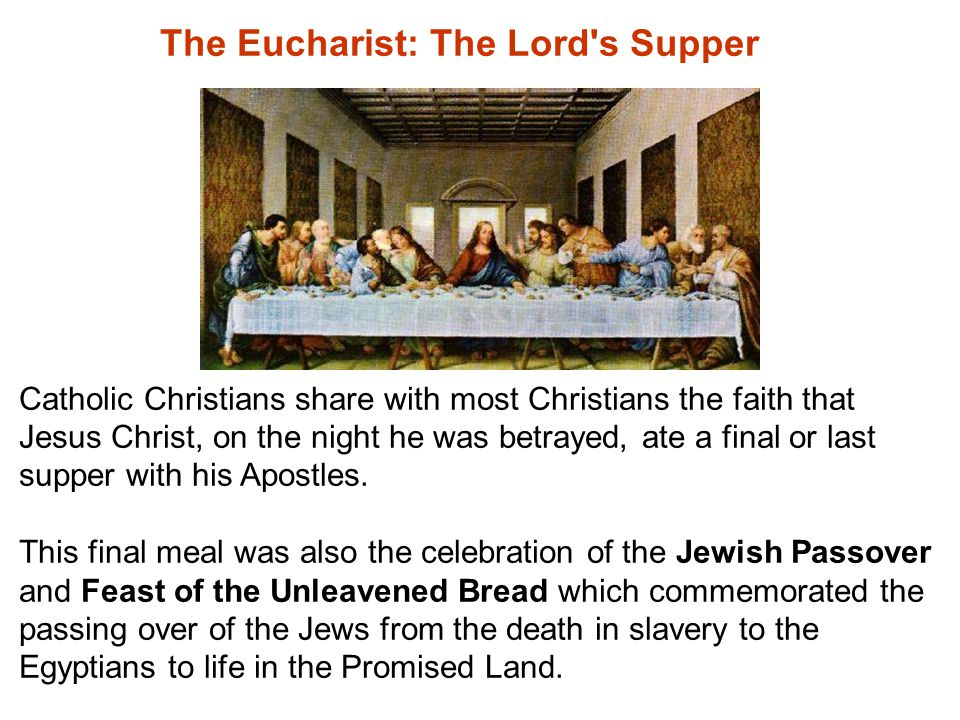 Christians differ in the meaning this Last Supper has to them and the Church today.