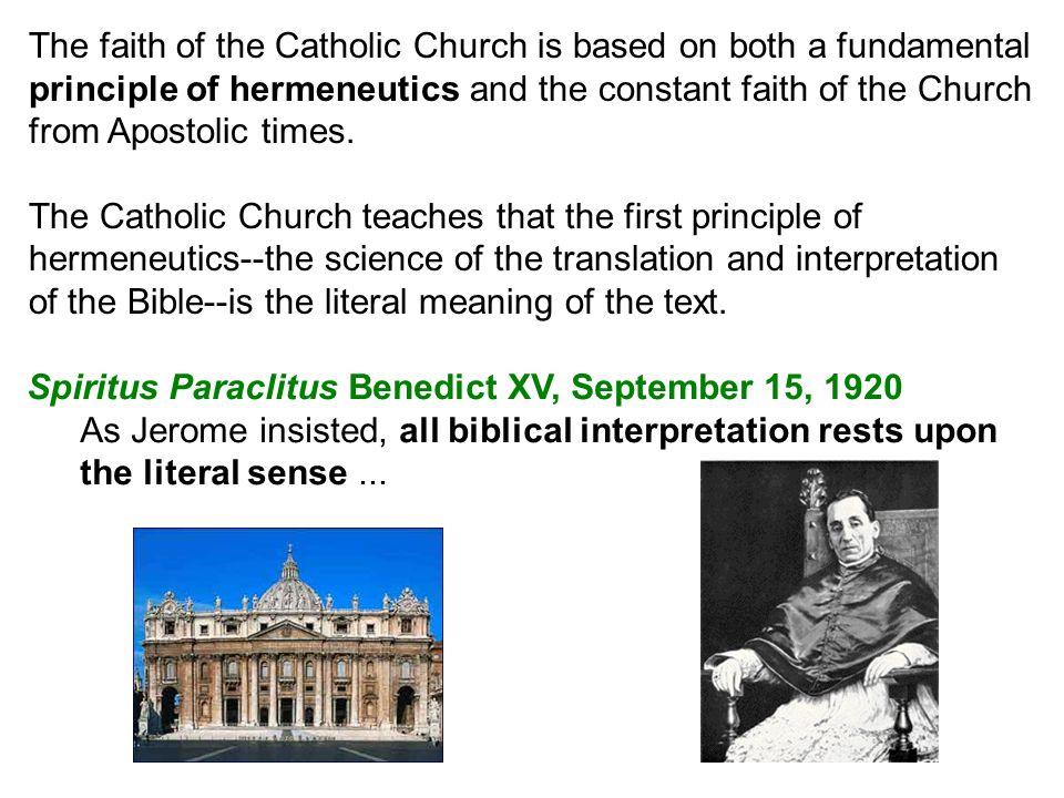 Divino Afflante Spiritus, Pius XII, September 30, 1943...