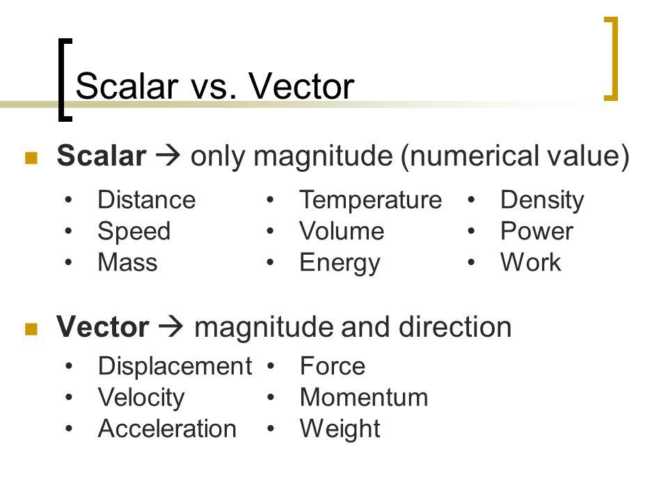 Scalar vs.