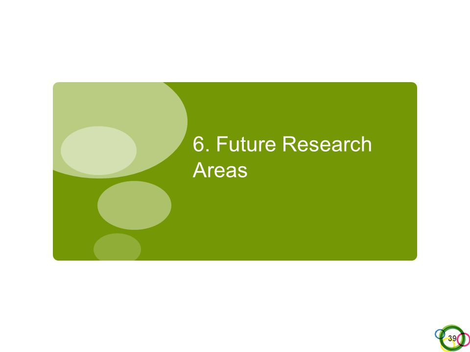 6. Future Research Areas 39