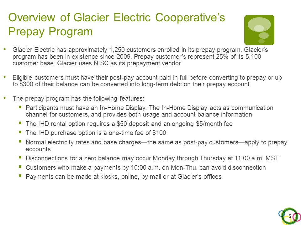 Overview of Peninsula Light Company's Prepay Program Peninsula Light Company has approximately 170 customers enrolled in its prepay program.