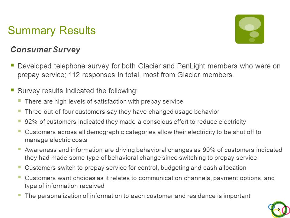 5. Summary of Results and Findings – Consumer Survey 19