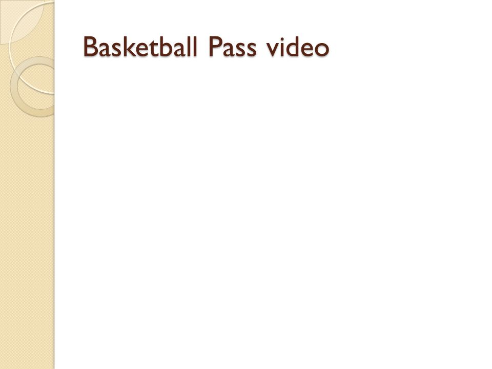 Basketball Pass video