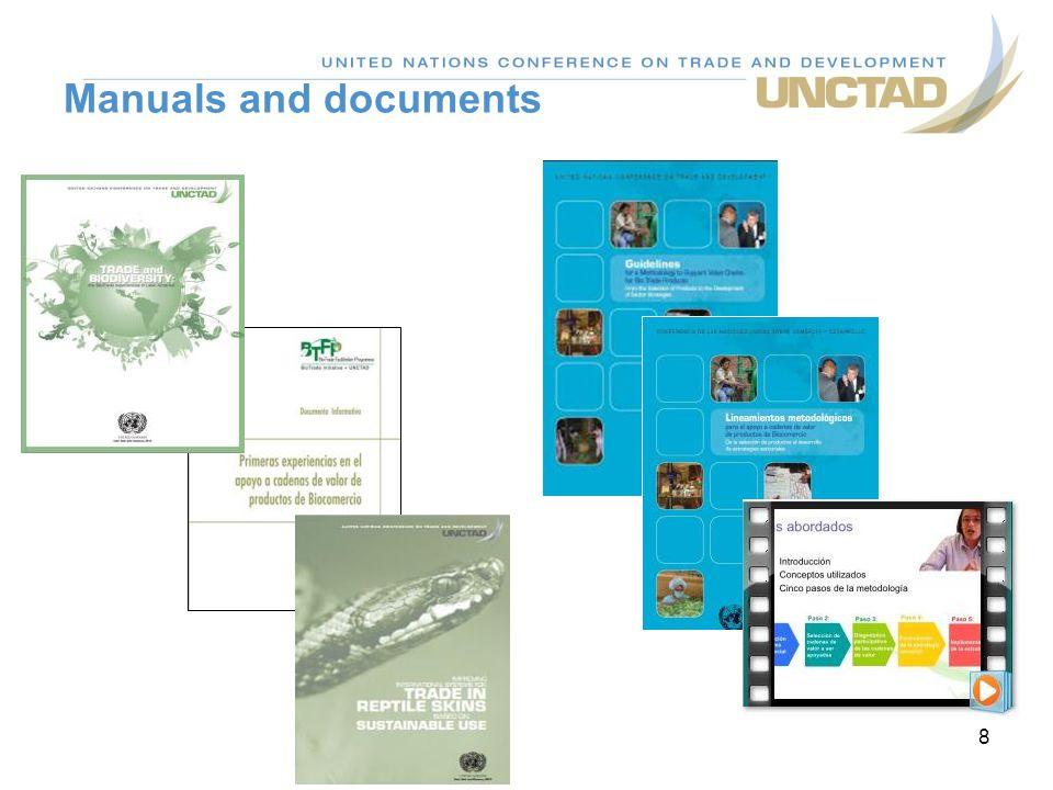 Manuals and documents 8