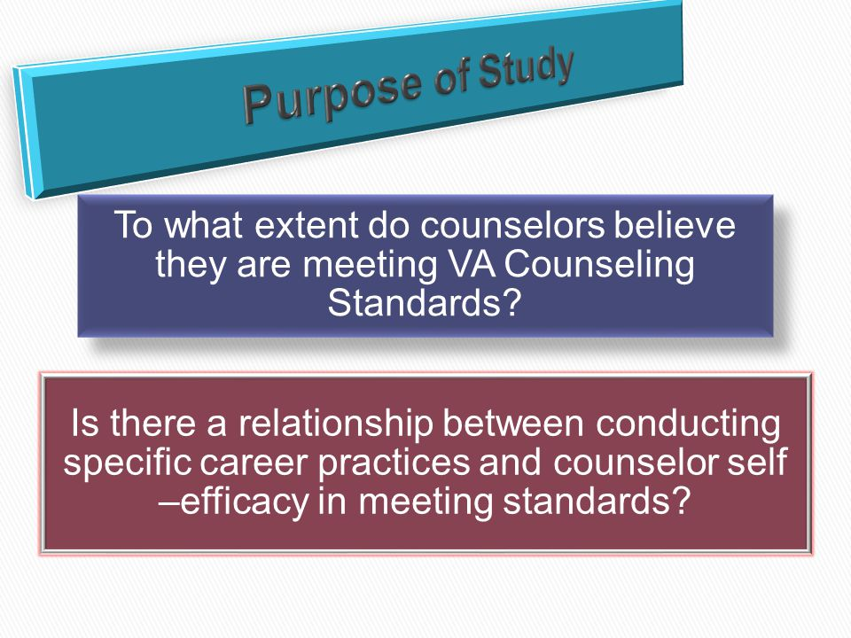 To what extent do counselors believe they are meeting VA Counseling Standards.