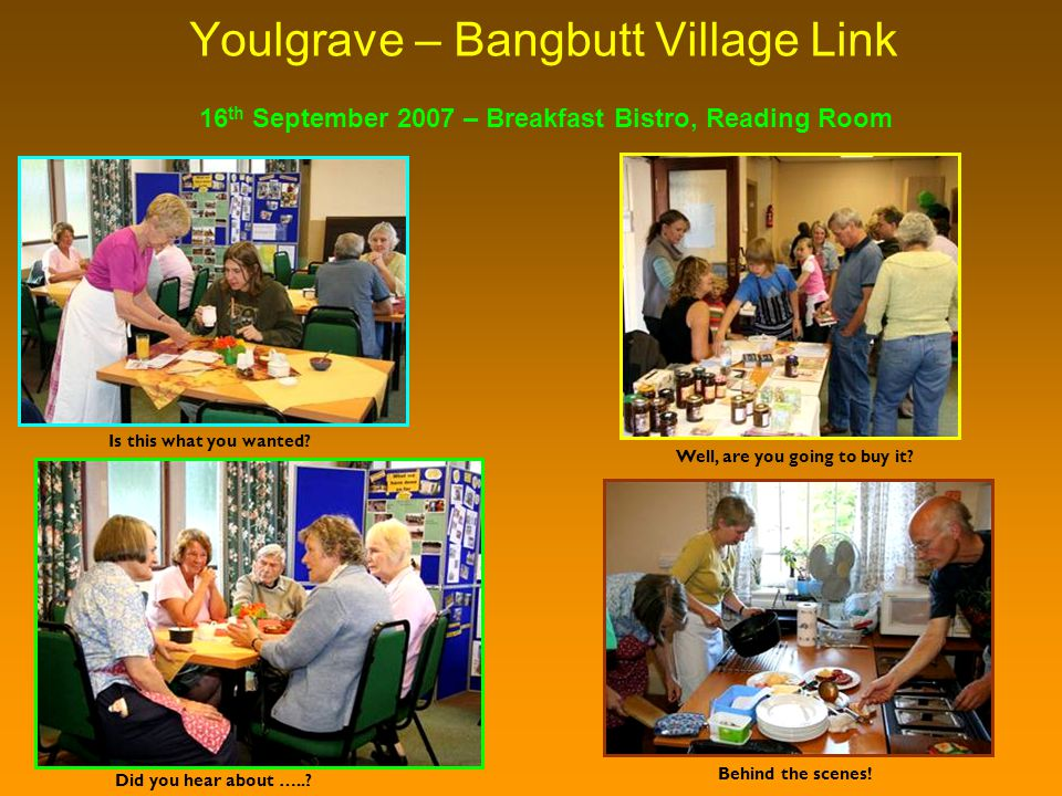 Youlgrave – Bangbutt Village Link Did you hear about …...
