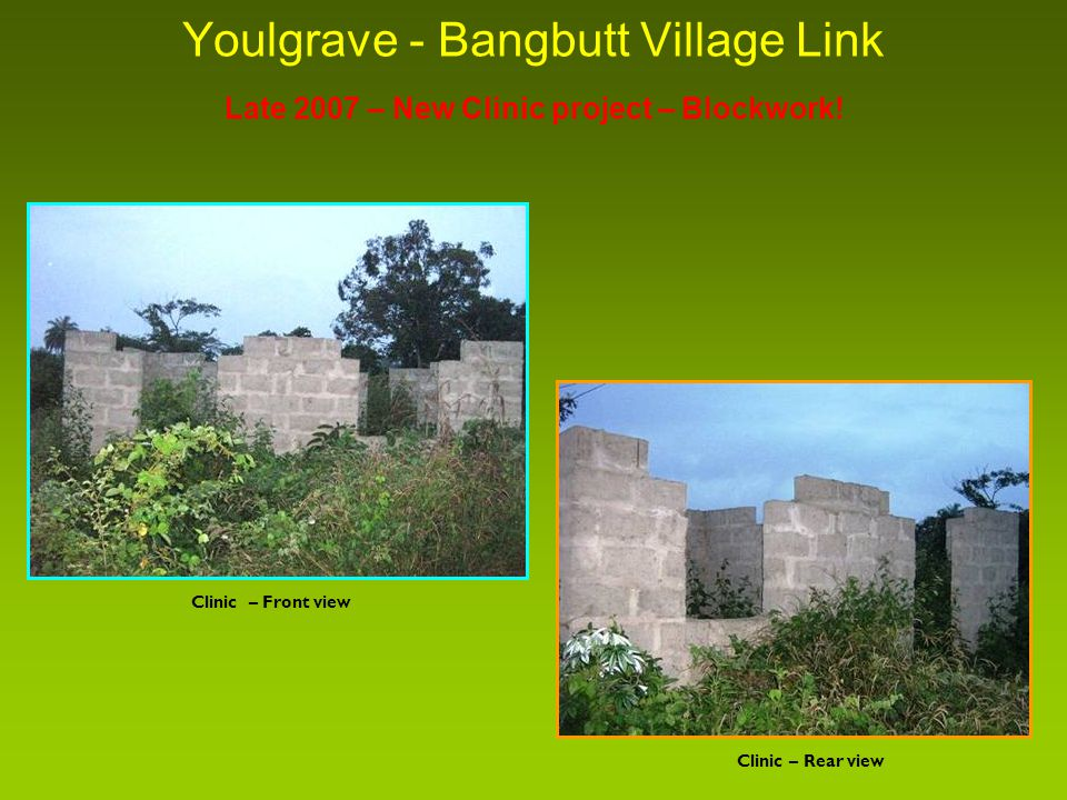 Youlgrave - Bangbutt Village Link Late 2007 – New Clinic project – Blockwork.