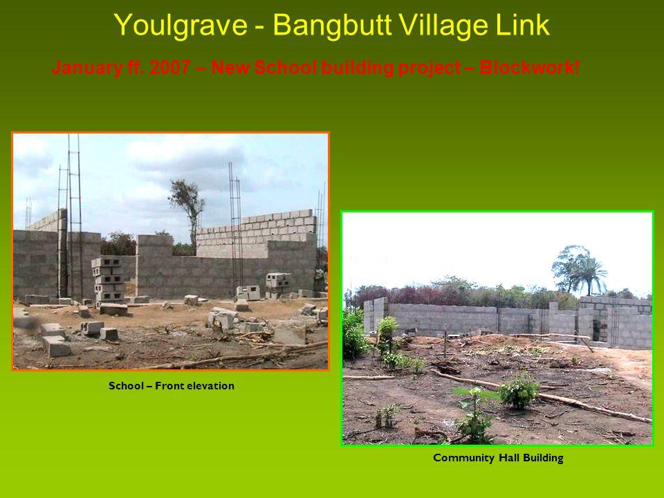 Youlgrave - Bangbutt Village Link January ff. 2007 – New School building project – Blockwork.