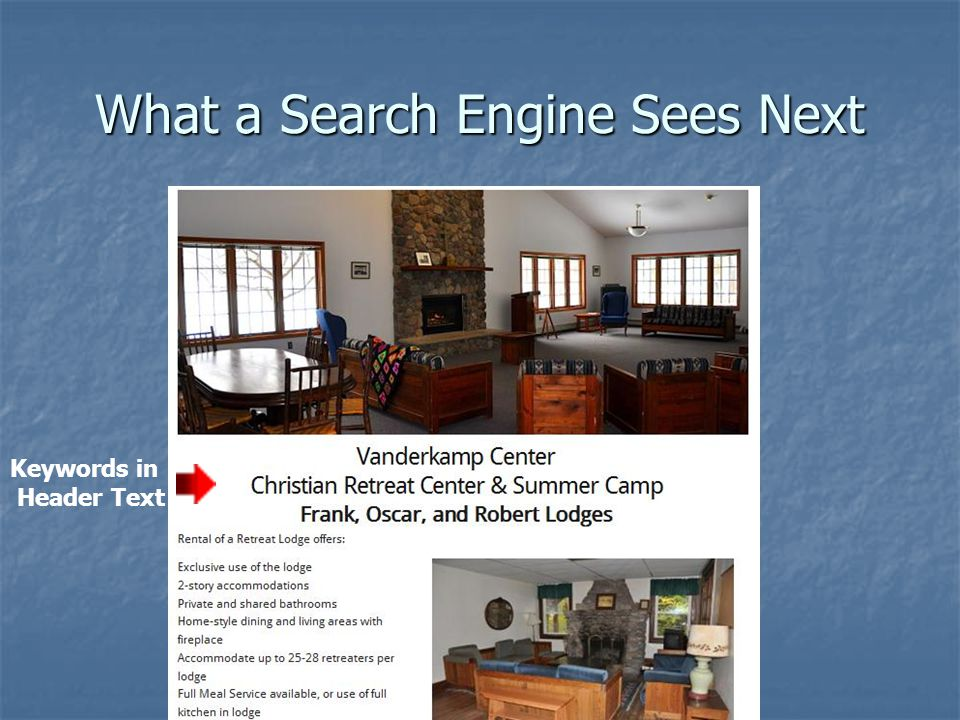 What a Search Engine Sees Next Keywords in Header Text
