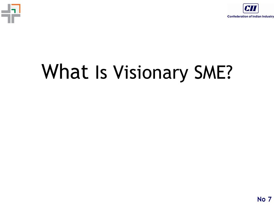 No 7 What Is Visionary SME