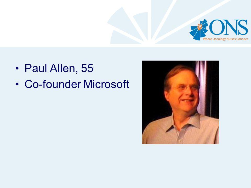Paul Allen, 55 Co-founder Microsoft