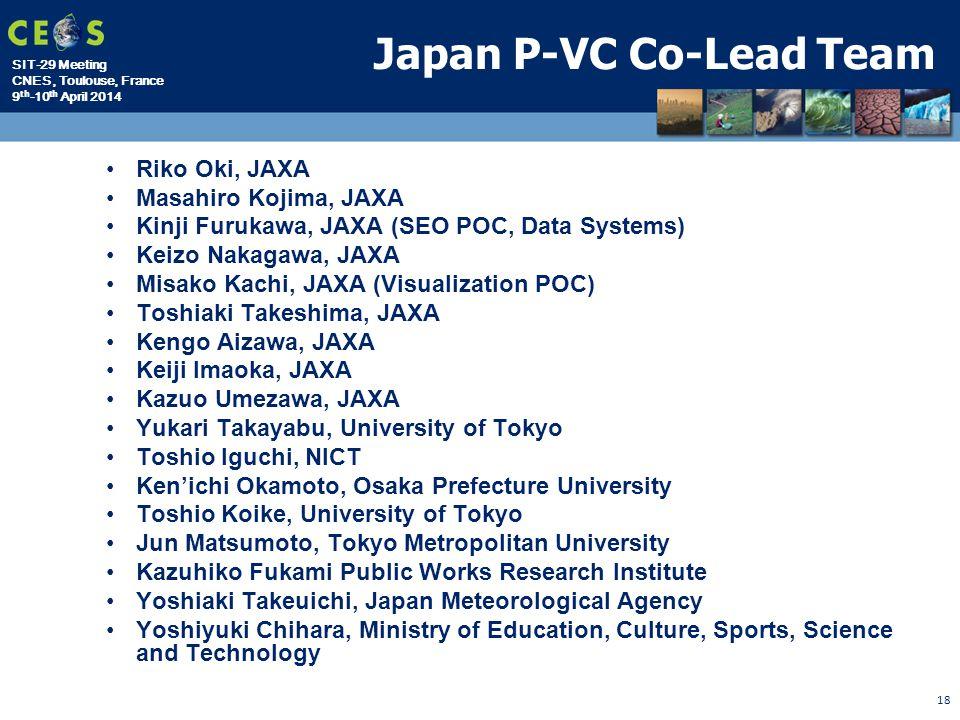 SIT-29 Meeting CNES, Toulouse, France 9 th -10 th April 2014 Riko Oki, JAXA Masahiro Kojima, JAXA Kinji Furukawa, JAXA (SEO POC, Data Systems) Keizo N
