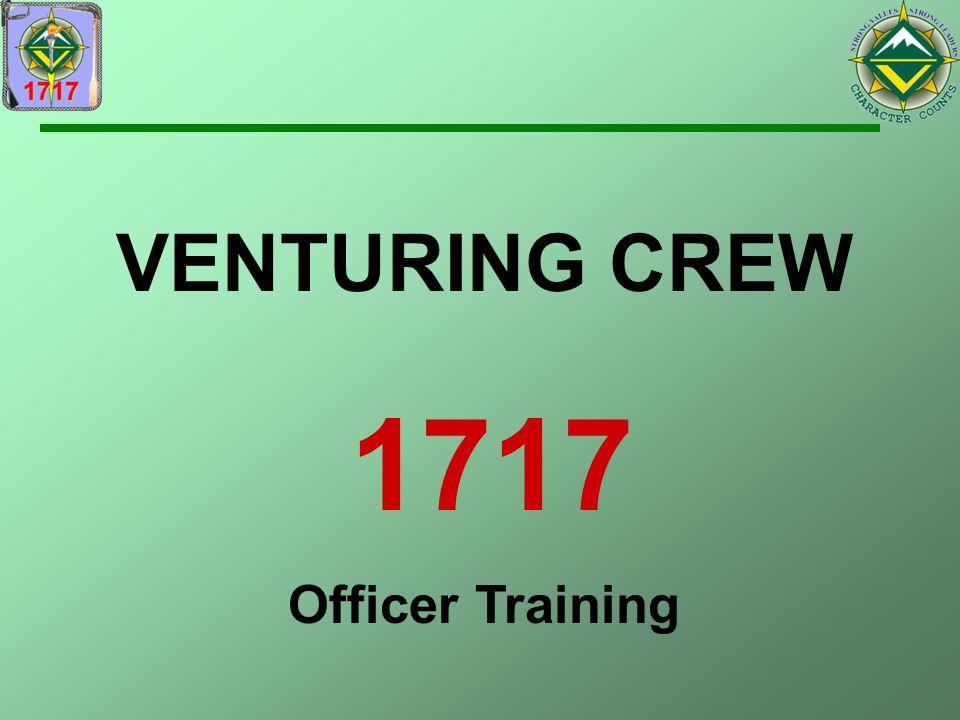VENTURING CREW 1717 Officer Training